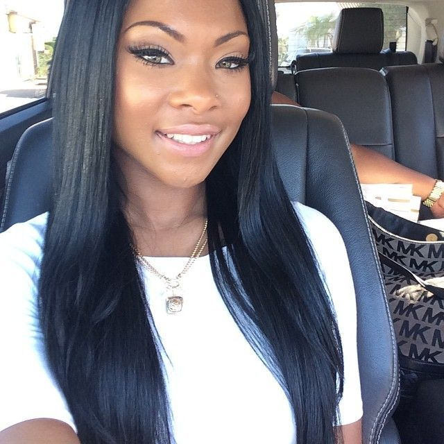 Straight weave is a little less popular than curly one, however, it shouldn't be overlooked. Long straight hair is extremely beautiful. It is harder to keep neat than .