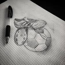 Resultado de imagen para dibujos de balones de futbol a lapiz
