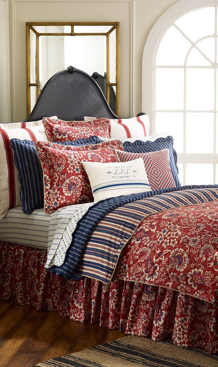 Ralph lauren plaid bedding - Ralph Lauren Villa Martine Floral King Comforter New