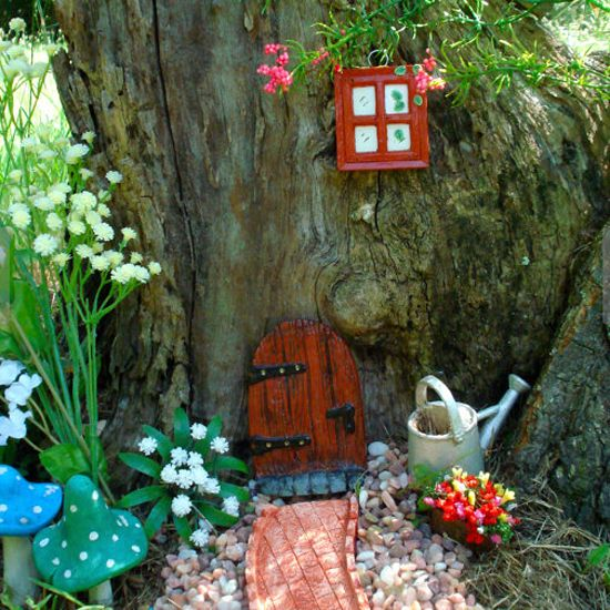 Fairy Doors In The Garden Legends Trees And A Tree