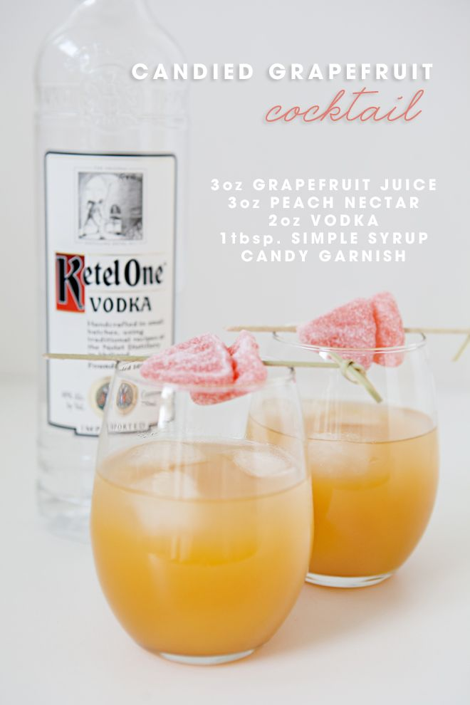Candied Grapefruit Cocktail Recipe
