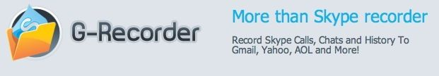 Professional Skype Audio Recorder for PC & Mac Saves All Your Chat Logs: G-Recorder