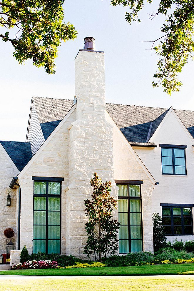 "Home Ideas Exterior Homes And House Beautiful: Exterior Stone "" Cottonwood"" Roof: Certaineed Independence Shingle In Colonial Slate"