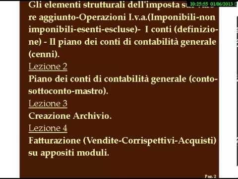 CORSO DI CONTABILITA' IN PARTITA DOPPIA-GESTIONE AZIENDALE-