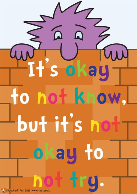 It's OK to not know...