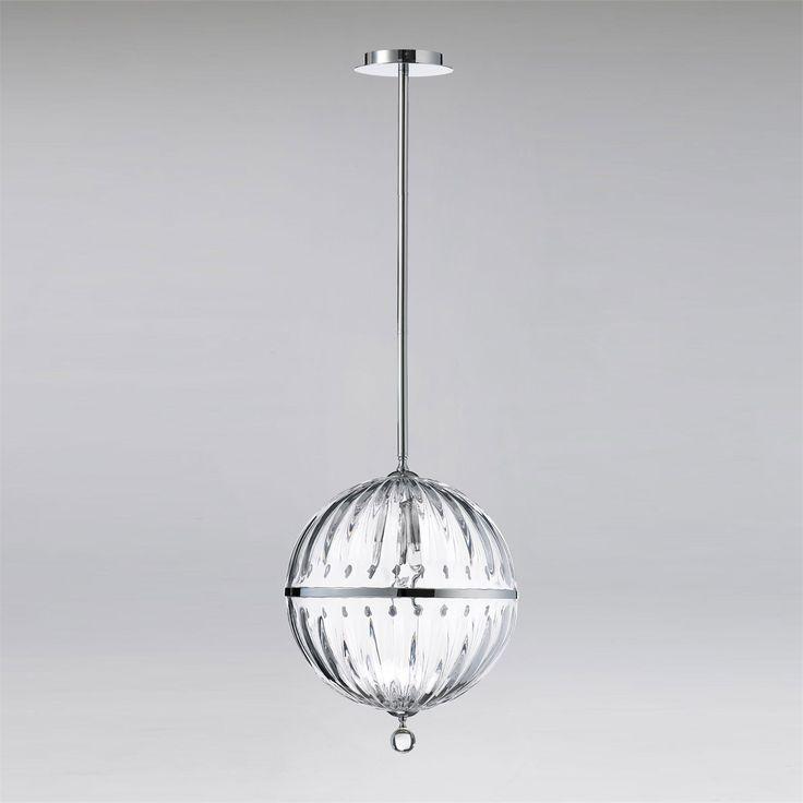 Cyan Design 04207 Janus Large 1 Light Globe Pendant in Chrome and Clear