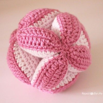 Crochet Baby Clutch Ball (and Petals to Picots Pattern Giveaway!)