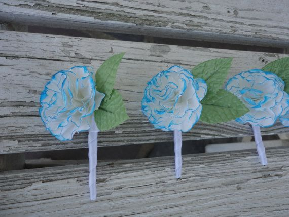 Paper Carnation Boutonniere  Dyed Carnation Groom by PoshStudios