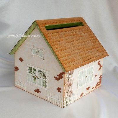 Деревянный домик для денег на свадьбу с черепичной крышей #wedding #weddingdecor #weddingaccessories #свадьба #свадебныеаксессуары