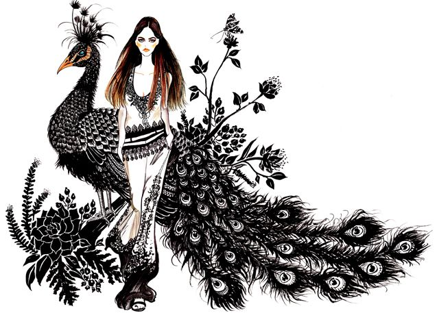 Sunny Gu's fashion illustrations
