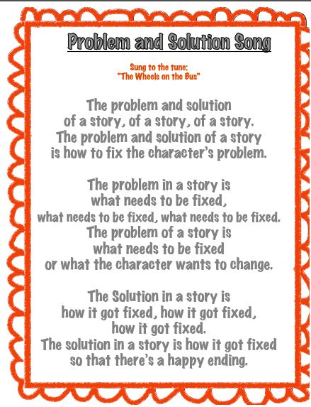 Problem And Solution Song Classroom Ideas Problem Solution