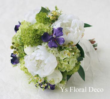 芍薬のクラッチブーケ アーティフィシャルフラワー @沖縄アラマンダ ys floral deco