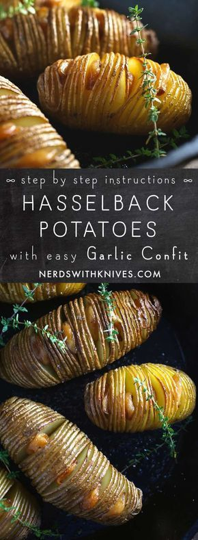 Mar 26, 2020 – Hasselback Potatoes With Easy Garlic Confit