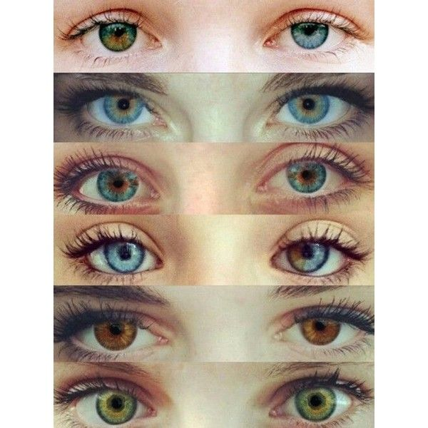 This is what I have Heterochromia Iridum. Different colors in each... ❤ liked on Polyvore featuring beauty products, makeup, eye makeup, eyes and lullabies