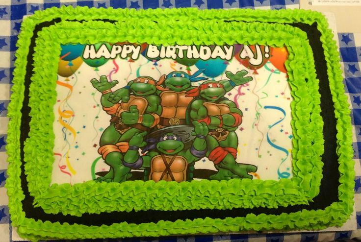 Ninja Turtle Buttercream Sheet Cake My Cakes And