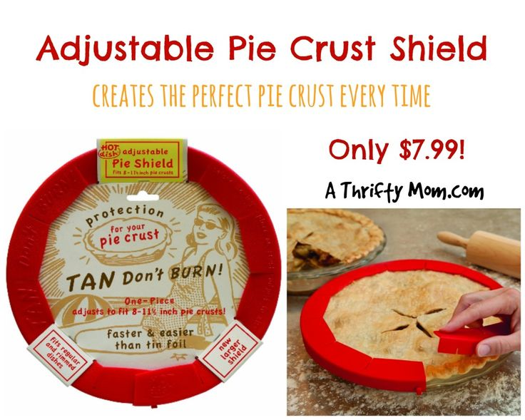 Adjustable Pie Crust Shield Only $7.99 - Creates the Perfect Pie Crust Every Time! #Thanksgiving
