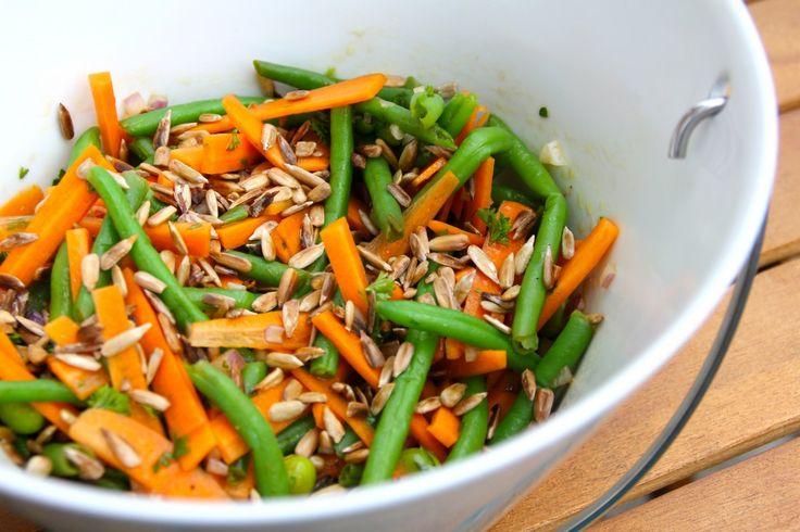Gulerod-bønne salat