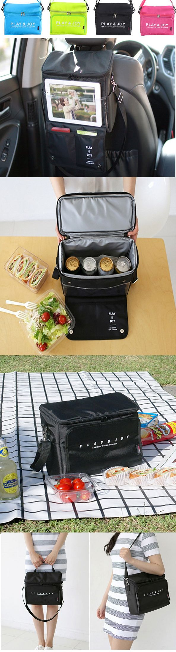 US$11.59 Multifuctional Car Seat Storage Bag Heat Preservation Pinic Bag Food Outdoors Container