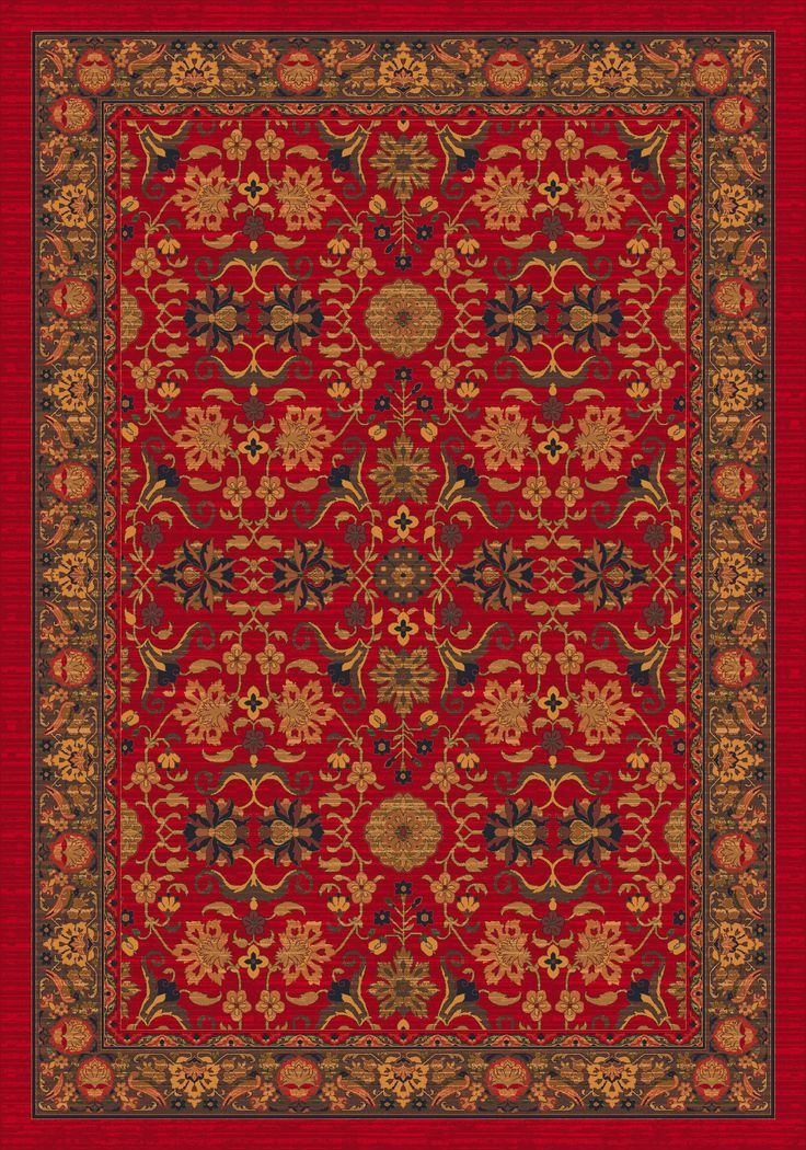 Milliken Pastiche Kamil Red Cinnamon Rug Amp Reviews