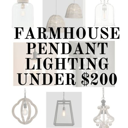 Farmhouse pendant lighting under $200 - Sophisticated Rust