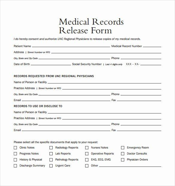 40 Medical Release Form Template Medical Records Medical Records