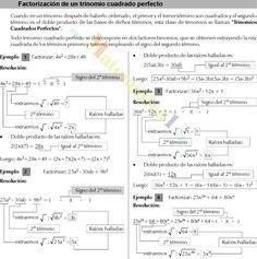 FACTORIZACION DE UN TRINOMIO CUADRADO PERFECTO EJERCICIOS RESUELTOS