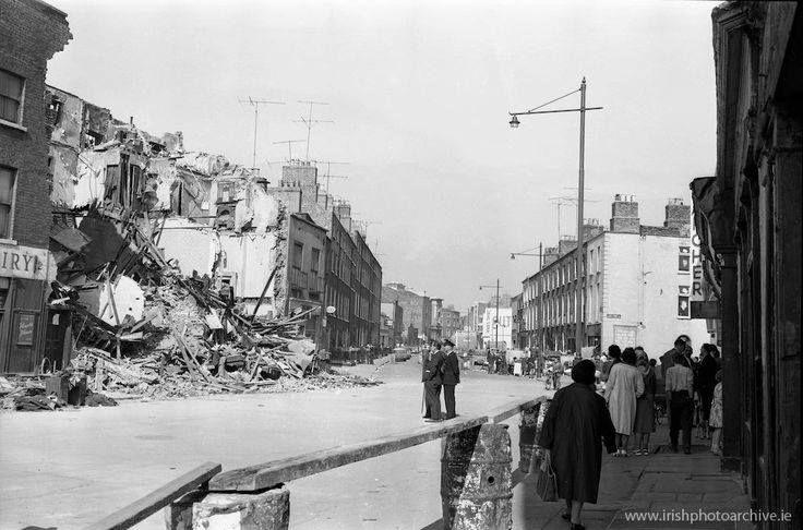 15th June 1963 - Tenement housing collapses at Fenian Street, Dublin.