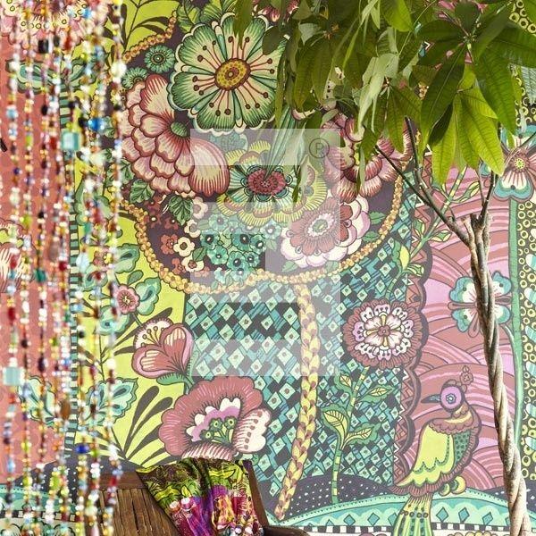 Keuken Behang Eijffinger : geel blauw groen roze kleurrijk behang – behang/muren Pinterest