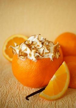 Pomarańczowy sernik na zimno z bezą włoską - Deser - Przepisy w  15  30  60…