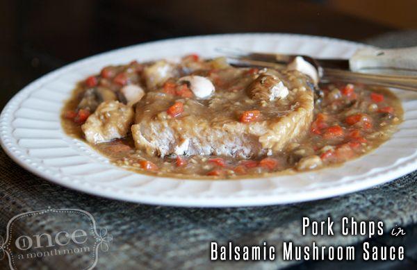 Pork Chops in Balsamic Mushroom Sauce
