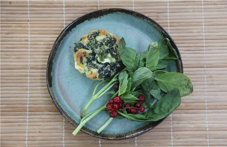 Receta de Soufflé de Espinaca, Queso y Quinoa www.cherrytomate.com