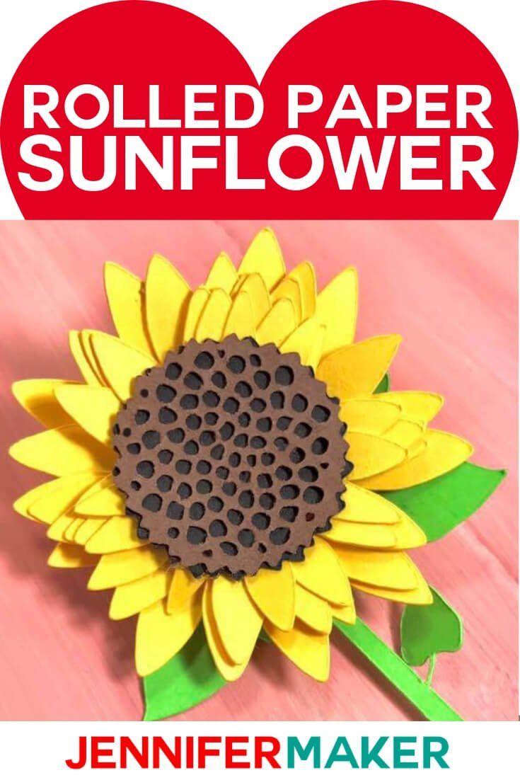 Download How to Make a Simple Rolled Paper Sunflower | Paper ...