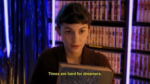 "Le fabuleux destin d'Amélie Poulain, 2001, Jean-Pierre Jeunet ""times are hard for dreamers"""