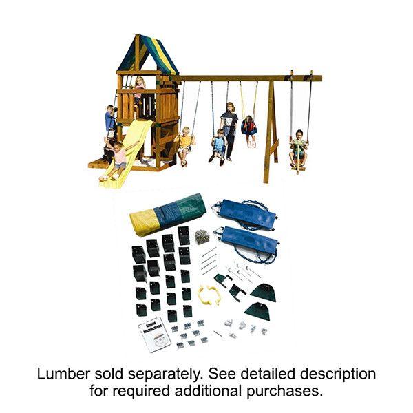Swing-n-Slide Ready to Build Custom Alpine DIY Swing Set Hardware Kit - Project 612