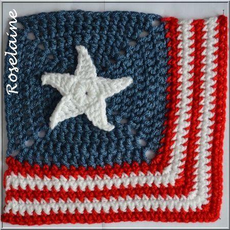 Granny USA #crochet #granny #USA