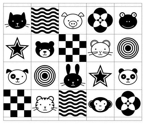 High Contrast Images-(tracking cards, cvi bingo)