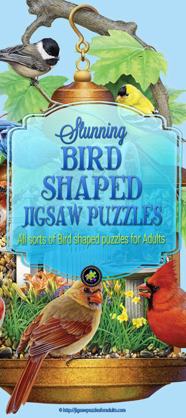 Love these bird shaped jigsaw puzzles for adults. These shaped jigsaw puzzles are not only beautiful, they're a bit challenging but loads of fun as well. So,if you love anything and everything about birds you'll find an amazing selection of bird shaped jigsaw puzzles like owl shaped puzzles, eagle shaped puzzles,hummingbirds and you will even found some shaped bird puzzles of backyard song birds.