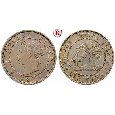 Kanada, Prince Edward Island, Victoria, Cent 1854, ss+: Victoria 1837-1901. Bronze-Cent 1854. KM 4; sehr schön +, zaponiert 20,00€ #coins