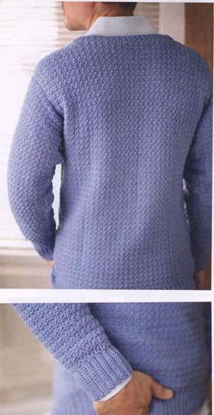 Men's v-neck sweater free crochet pattern
