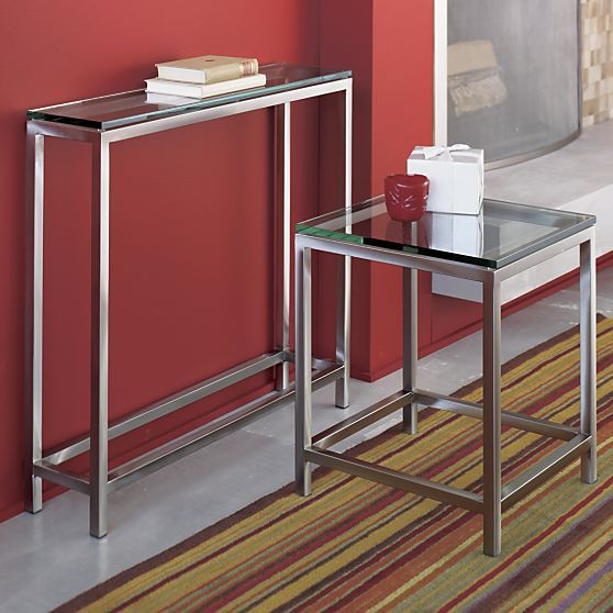 Era Console Table In Entryway Tables | Crate And Barrel 36x8x32 $449