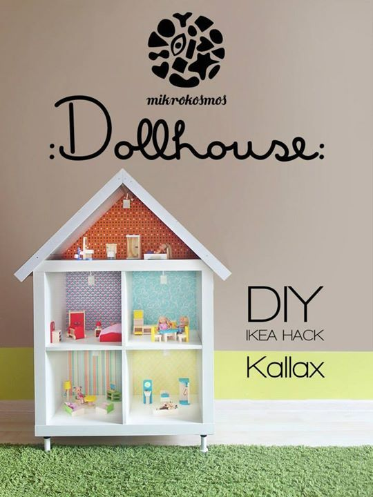 Dollhouse // Ikea Hack https://www.facebook.com/mikrokosmosstudio/photos/a.836276279761753.1073741901.508583069197744/836276306428417/?type=1