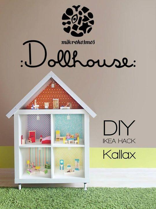 Dollhouse // Ikea Hack https://www.facebook.com/mikrokosmosstudio/photos/a.836276279761753.1073741901.508583069197744/836276306428417/?type=1