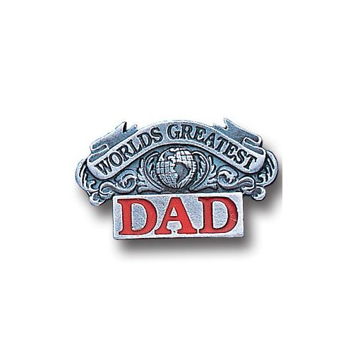 Worlds Greatest Dad Lapel Pin