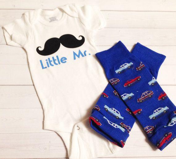 Sale: Little Mr Mustache Print Onesie with by SamieMarieBoutique