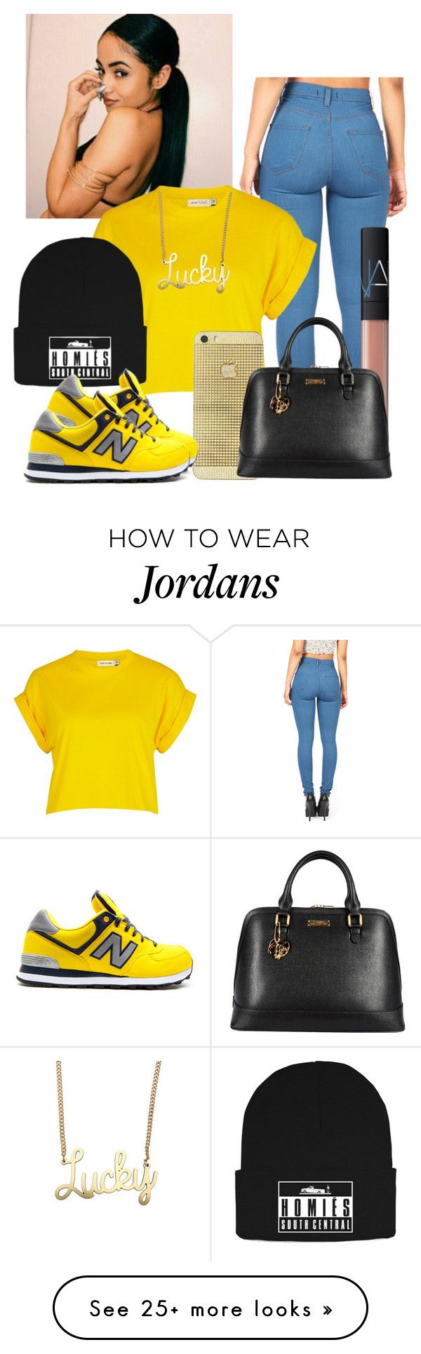 """""""Yo, He In Love With A Ghetto Girl And Wanna Piece Like Metta World"""" by wvnnie on Polyvore featuring River Island, Brian Lichtenberg, NARS Cosmetics and Versace"""