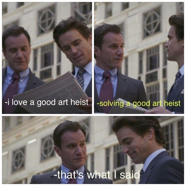 Neal loves a good heist! White Collar