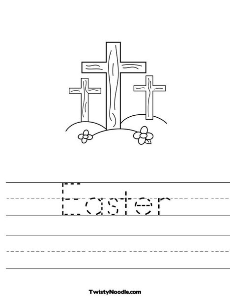 Easter Worksheet from TwistyNoodle.com