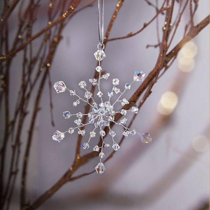 handmade snowflake christmas decoration by rosie willett designs | notonthehighstreet.com