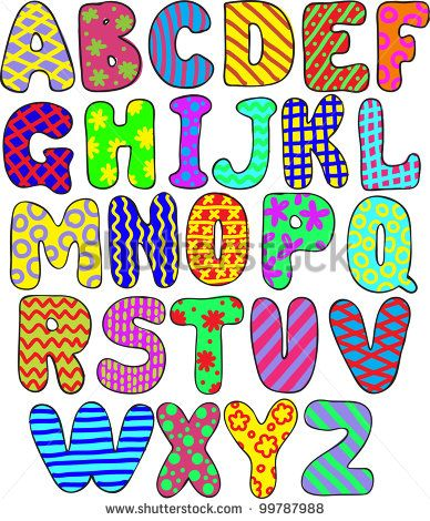 Whimsical Alphabet Letters to Copy | Whimsical Alphabet Letters