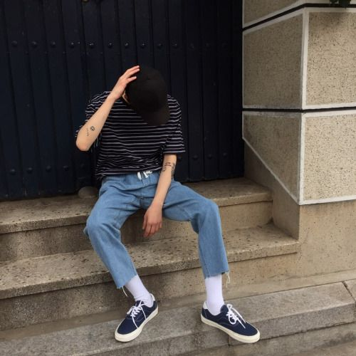 Look 93 Top : Raw Stripe Tee (3color) Bottom : Rang Denim Pants (2color)